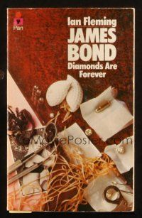 7d205 DIAMONDS ARE FOREVER 29th printing English Pan paperback book '76 James Bond novel by Fleming