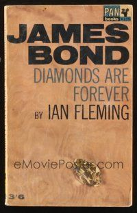 7d203 DIAMONDS ARE FOREVER 21st printing English paperback book '65 James Bond novel by Ian Fleming!