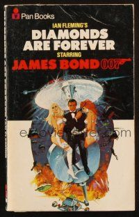 7d204 DIAMONDS ARE FOREVER 25th printing English Pan paperback book '72 James Bond novel by Fleming!