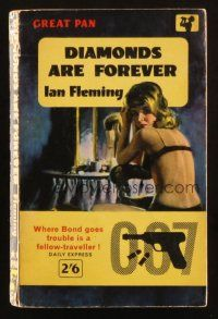 7d201 DIAMONDS ARE FOREVER 9th printing English Pan paperback book '62 James Bond novel by Fleming!