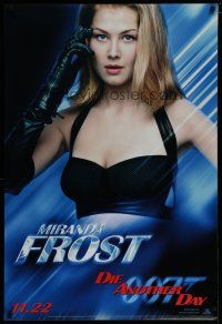 7d413 DIE ANOTHER DAY teaser 1sh '02 James Bond, super-sexy Rosamund Pike as Miranda Frost!