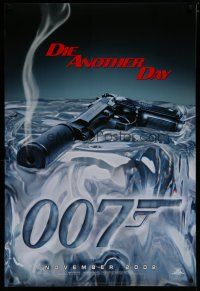 7d410 DIE ANOTHER DAY teaser 1sh '02 James Bond, great image of gun melting ice!