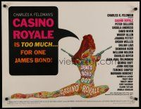 7d151 CASINO ROYALE 1/2sh '67 James Bond spy spoof, sexy psychedelic art by Robert McGinnis!