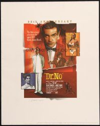 7d029 DR. NO signed & numbered limited edition 16x20 print '98 by artist Jeff Marshal, 572/1500!