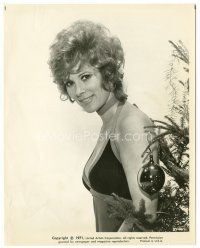 7d187 DIAMONDS ARE FOREVER 8x10.25 still '71 sexy Bond girl Jill St. John by Christmas tree!