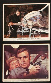 7d188 DIAMONDS ARE FOREVER set of 8 color English FOH LCs '71 Connery as James Bond, Jill St. John!