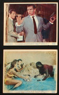 7d012 DR. NO set of 8 color English FOH LCs '62 great scenes with Sean Connery as James Bond 007!
