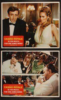 7d152 CASINO ROYALE set of 8 LCs '67 Peter Sellers, Niven, Welles, Ursula Andress, James Bond spoof