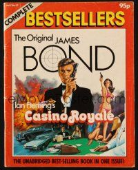 7d325 COMPLETE BESTSELLERS CASINO ROYALE English magazine '82 great different Chantrell cover art!