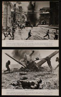 7h897 BATTLE OF THE BULGE 2 8x10 stills '66 WWII battle fighting war images in streets, w/ plane!!
