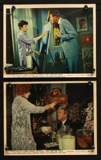 7h279 BELL, BOOK & CANDLE 2 color 8x10 stills '58 James Stewart, with Rule and Gingold!