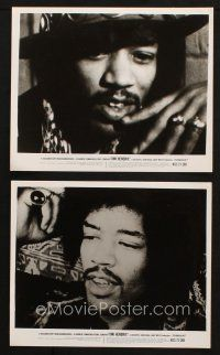 7h941 JIMI HENDRIX 2 8x10 stills '73 cool close ups of the rock & roll guitar god!
