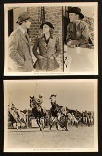 7h943 KID FROM TEXAS 2 8x10 stills '39 Dennis O'Keefe, Florence Rice, wild western polo image!