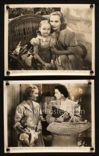 7h939 IN NAME ONLY 2 8x10 stills '39 cool images of beautiful Carole Lombard w/ Kay Francis & child