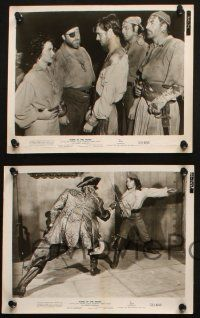 7h715 ANNE OF THE INDIES 5 8x10 stills '52 cool images with pirate queen Jean Peters, Jourdan!