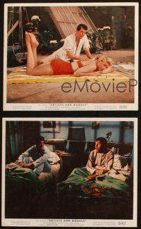7h268 ARTISTS & MODELS 3 color 8x10 stills '55 Dean Martin & Jerry Lewis, MacLaine, Malone!