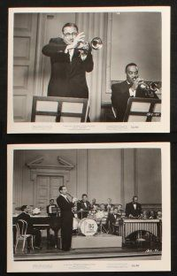 7h359 BENNY GOODMAN STORY 17 8x10 stills '56 Steve Allen as Goodman playing with big band!