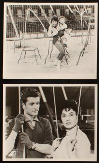 7h663 BIMBO THE GREAT 6 8x10 stills '61 Rivalen der Manege, German circus, big top images!