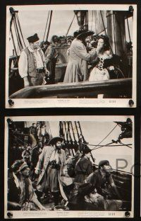7h665 BLACKBEARD THE PIRATE 6 8x10 stills '52 Robert Newton in the title role, sexy Linda Darnell!