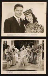 7h933 HIT PARADE OF 1941 2 8x10 stills R53 Frances Langford & Kenny Baker, Romance & Rhythm!