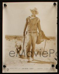 7h849 HONDO 3 8x10.25 stills '53 cool images of John Wayne with rifle, dog and horse!