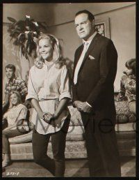 7h938 I'LL TAKE SWEDEN 2 7x9.25 stills '65 Bob Hope, Tuesday Weld & Frankie Avalon!