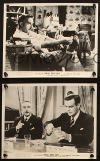 7h851 I'M ALL RIGHT JACK 3 8x10 stills '60 Boulting Brothers, Peter Sellers, Terry-Thomas