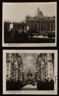 7h735 IMMORTAL CITY 5 8x10 stills '54 really cool images of the Vatican and Pope Pius XII!