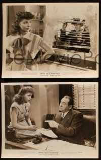 7h855 JANIE GETS MARRIED 3 8x10 stills '46 sexy Joan Leslie, Robert Hutton, Edward Arnold!