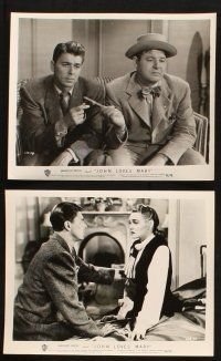 7h628 JOHN LOVES MARY 7 8x10 stills '49 cool images of Ronald Reagan, Jack Carson, Patricia Neal!