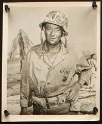 7h685 JOHN WAYNE 6 8x10 stills '40s-50s from Sands of Iwo Jima, Fighting Kentuckian, more!