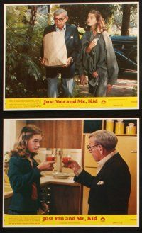 7h096 JUST YOU & ME, KID 8 8x10 mini LCs '79 great images of George Burns & young Brooke Shields!