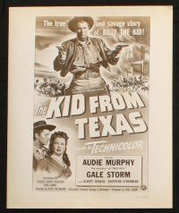 7h792 KID FROM TEXAS 4 8x10 stills '51 Audie Murphy, Gale Storm, cool cowboy images!