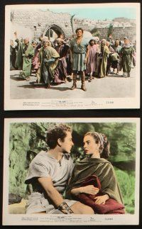 7h055 ROBE 10 color 8x10 stills '53 Richard Burton, Jean Simmons, Victor Mature in Rome!