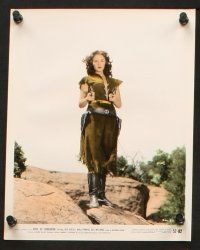 7h056 ROSE OF CIMARRON 10 color 8x10 stills '52 Jack Buetel, Mala Powers as The Wildcat of the West