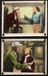 7h062 SANTA FE 10 color 8x10 stills '51 Randolph Scott in New Mexico, directed by Irving Pichel!