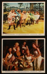 7h027 SEVEN BRIDES FOR SEVEN BROTHERS 12 color 8x10 stills '54 cool images of Jane Powell & Keel!
