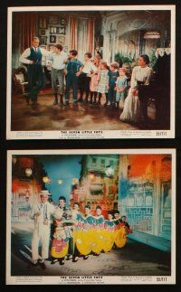 7h029 SEVEN LITTLE FOYS 12 color 8x10 stills '55 Bob Hope performing w/kids in wacky outfits!