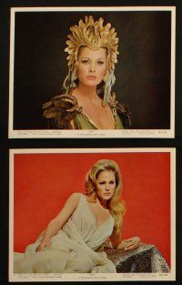 7h030 SHE 12 color 8x10 stills '65 sexy Ursula Andress, Christopher Lee, Hammer fantasy!