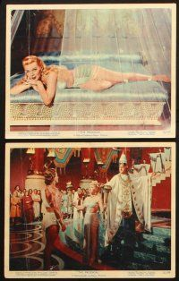 7h009 PRODIGAL 12 color 8x10 stills '55 romantic images of sexiest Lana Turner & Edmund Purdom!