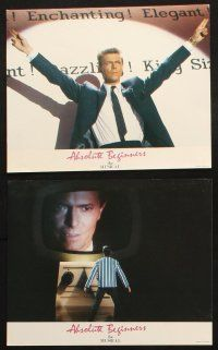 7h085 ABSOLUTE BEGINNERS 8 color English FOH LCs '86 David Bowie stars in the musical!