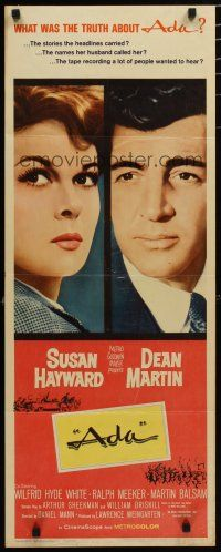 7j007 ADA insert '61 super close portraits of Susan Hayward & Dean Martin, what was the truth?