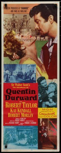 7j010 ADVENTURES OF QUENTIN DURWARD insert '55 English hero Robert Taylor romances Kay Kendall!