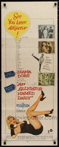 7j017 ALLIGATOR NAMED DAISY insert '57 artwork of sexy Diana Dors in skimpy outfit, Jean Carson!