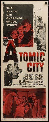 7j029 ATOMIC CITY insert '52 Cold War nuclear scientist Gene Barry in big suspense shock story!
