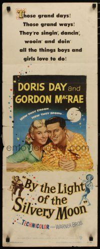 7j056 BY THE LIGHT OF THE SILVERY MOON insert '53 great romantic c/u of Doris Day & Gordon McRae!