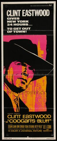 7j076 COOGAN'S BLUFF insert '68 art of Clint Eastwood in New York City, directed by Don Siegel!