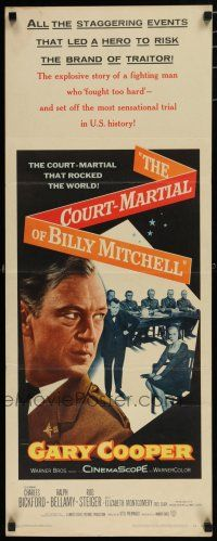 7j077 COURT-MARTIAL OF BILLY MITCHELL insert '56 c/u of Gary Cooper, directed by Otto Preminger!