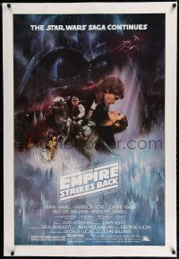 7r031 EMPIRE STRIKES BACK linen studio style 1sh '80 classic Gone With The Wind art by Roger Kastel