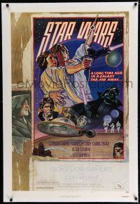 7r002 STAR WARS linen NSS style D 1sh 1978 circus poster art by Drew Struzan & Charles White!